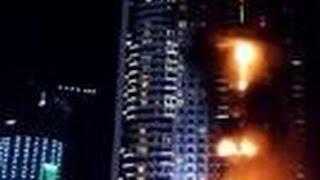 GROTE BRAND HOTEL DUBAI Address Downtown Hotel @ Burj Khalifa - Vuurwerk 2015 2016 Nieuwjaar