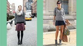 How To Wear A Line Leather Skirt