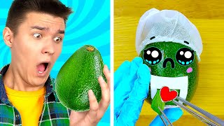 WHEN FOOD IS YOUR BFF  Yummy Food Hacks and Funny Tricks