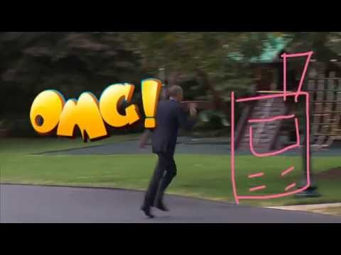 Even Barack Obama  forgot his phone and runs back. He's just like us|funny & hilarious moment