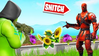 Playing SNITCH HIDE AND SEEK As PROPS! (Fortnite)