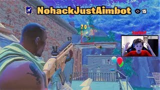 Spectating a REAL Aim-Bot hacker as he WHIPE'S tilted! (Fortnite)