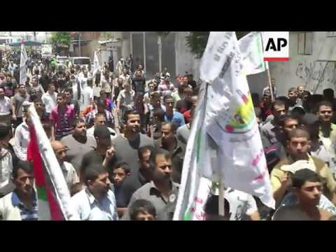 Funerals of two Al Aqsa Martyrs' Brigade members killed in Gaza airstrikes