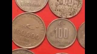 Обзор  Монеты Турции Регулярного Чекана 1965-2005 Коллекция Редких Монет с изображением Ататюрка.
