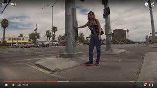 Cigarette smoking Crack Whore and McDonald's Coffee Junkie, Palace Station, Las Vegas, NV, GOPR6877