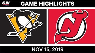 NHL Highlights   Penguins vs. Devils – Nov. 15, 2019
