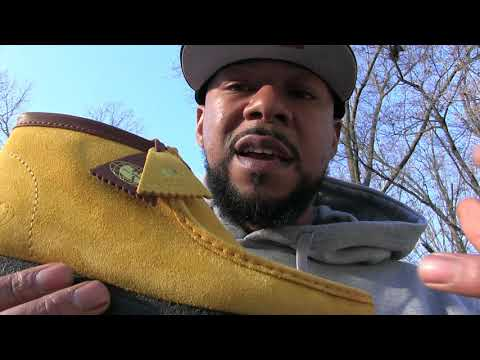 CLARKS - WU WEAR OFFICIAL WU TANG WALLABEE REVIEW UNBOXING - YELLOW MUSTARD
