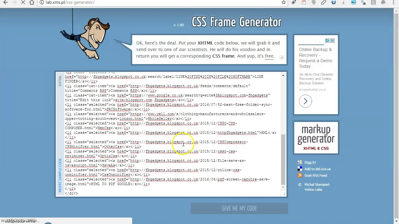 Rss Feed Iframe Generator
