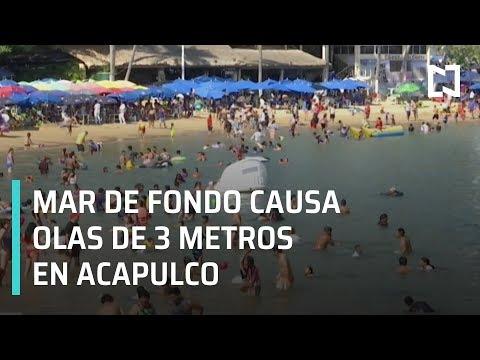 Playas de Acapulco, Guerrero, registran olas de hasta tres metros de altura - Las Noticias