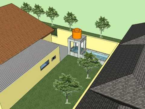 skechup animasi 3d rumah.