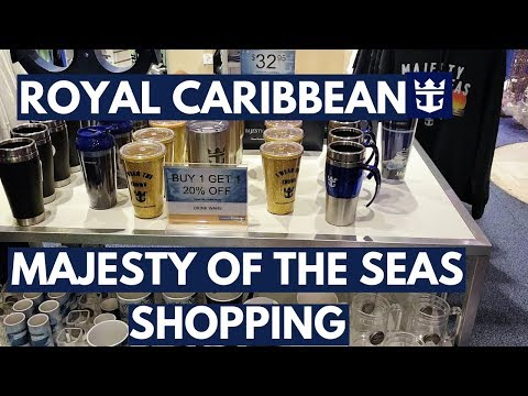 Royal Caribbean Shopping on a Cruise Ship, Majesty of the Se