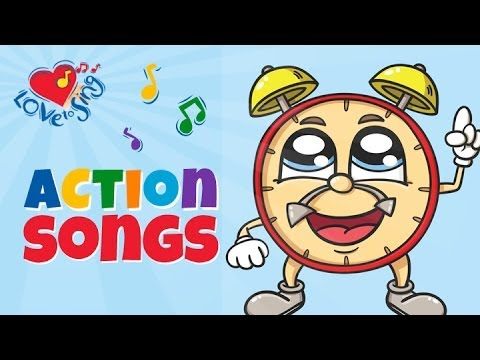 Tick Tock Clock Song | Children Love to Sing & Dance Kids Action Song