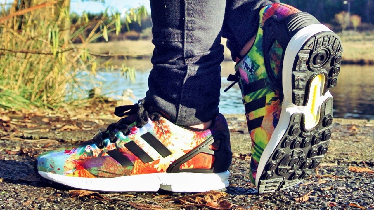 adidas zx flux white black solar yellow