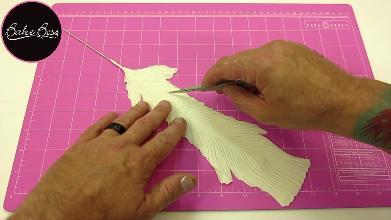 How to make fondant feathers youtube - Peacock Feather
