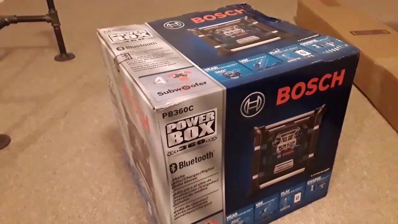 unboxing bosch pb360c jobsite radio youtube. Black Bedroom Furniture Sets. Home Design Ideas