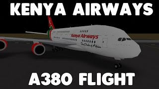 Kenya Airways A380 Flight! | Roblox