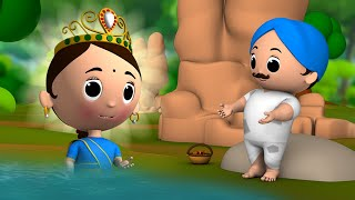 The Magical River Story in Hindi - 3D Animated Kids Moral Stories जादुई नदी हिन्दी कहानी Fairy Tales