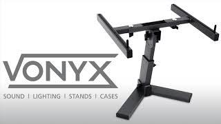 Vonyx Adjustable Desktop Laptop / Mixer Stand