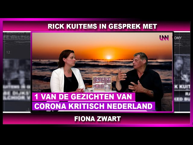 Rick Kuitems in gesprek met Fiona Zwart, 1 van de gezichten van Corona kritisch Nederland