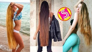 Real Life Rapunzels 2018 - Best Extremely Long Hair Girls | Satisfying Hair Video