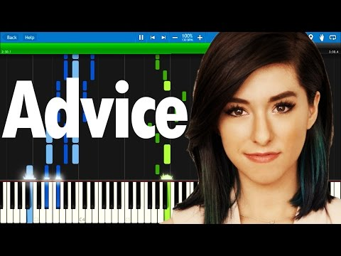 Christina Grimmie - Advice | Synthesia piano tutorial