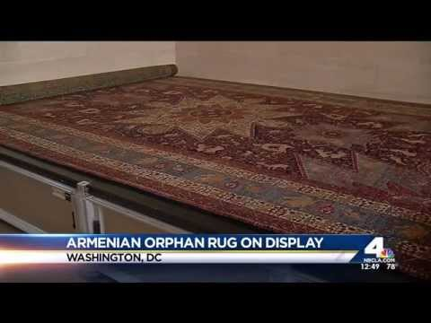 NBC 4: Armenian Orphan Rug is Displayed at White House Visitors Center