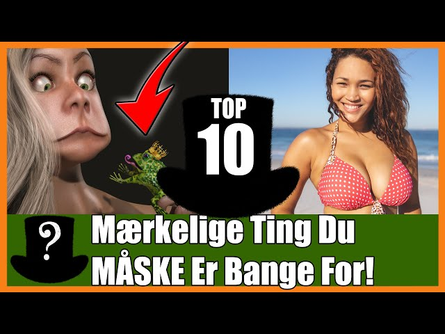 TOP 10 Mærkelige Ting Du MÅSKE Er Bange For!