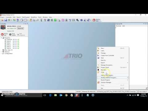 HOW TO ENCRYPT A PROGRAM IN TRIO MOTION CONTROLLER, using Motion Perfect.