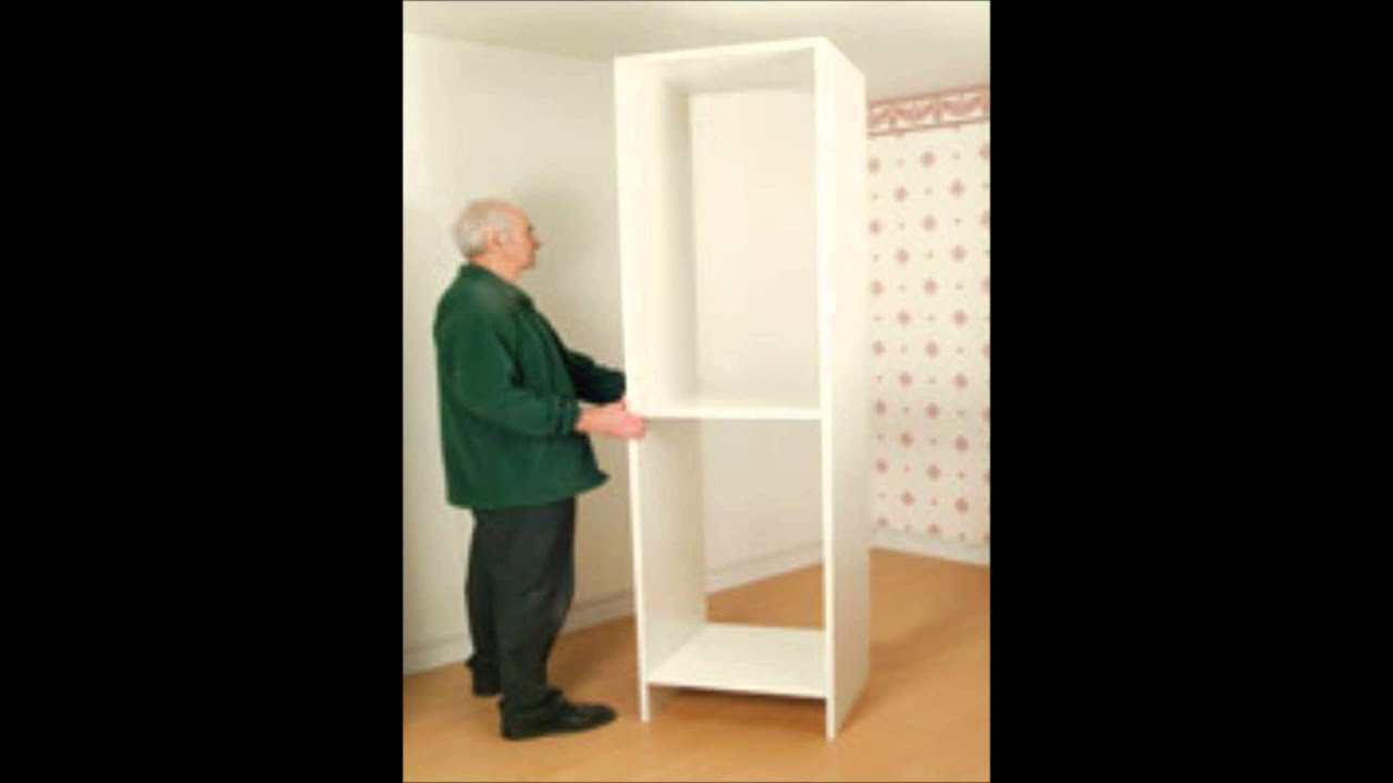 How to build a wardrobe with sliding wardrobe doors youtube for How to make a sliding door