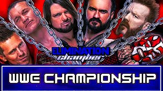 WWE Elimination Chamber 2021 Match Card Predictions V2