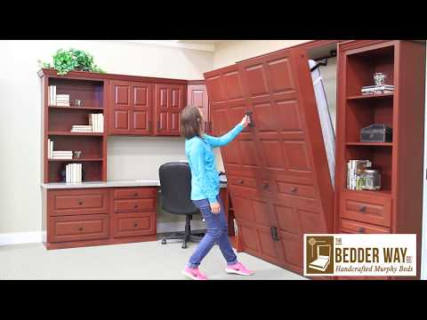 How to Open a Vertical Wood Murphy Bed from the Bedder Way Company