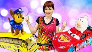 Быстрые машинки - Маша Капуки и Мультфильм - Песенка: Быстро и Медленно для малышей
