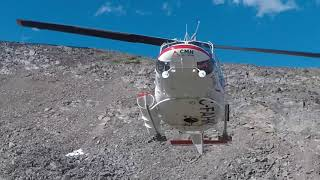 CMH helicopter landing - Bugaboos British Columbia, Canada. Filmed ...
