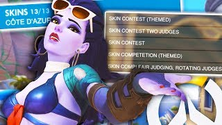 EXPLORING SKIN CONTESTS ON OVERWATCH CUSTOM GAMES!? (CAN I WIN ONE?)
