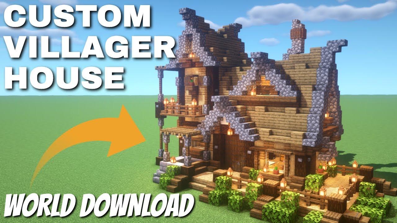 Minecraft Survival: Leatherworker House - Custom Villager Houses with  Schematics & World Downloads