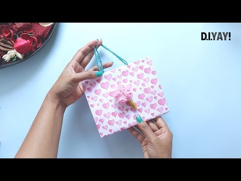 DIY Paper GIFT BAG | Easy Craft | Gift Wrapping Ideas