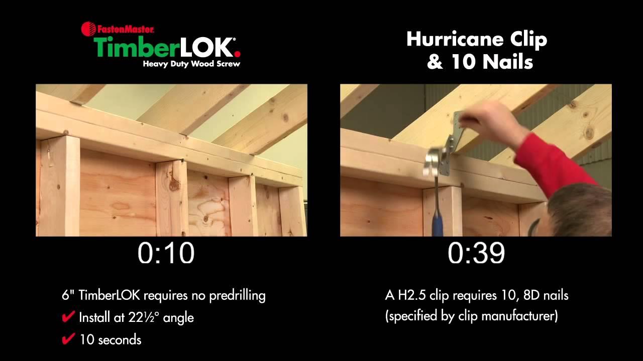 Fastenmaster 6 Timberlok Vs Hurricane Ties Youtube