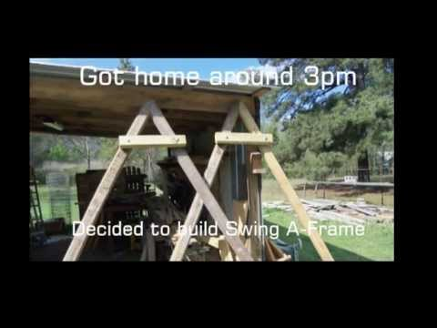 Building the A-Frame for a Swing (Slide Show) - YouTube