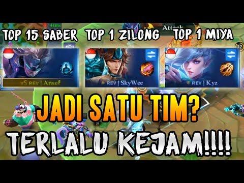 Cover Lagu TOP 1 ZILONG + TOP 1 MIYA + TOP GLOBAL SABER BERSATU? INI YANG AKAN TERJADI MOBILE LEGENDS INDONESIA HITSLAGU