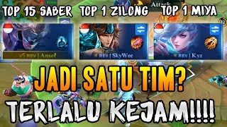 TOP 1 ZILONG + TOP 1 MIYA + TOP GLOBAL SABER BERSATU? INI YANG AKAN TERJADI MOBILE LEGENDS INDONESIA