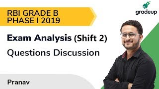 RBI Grade B Phase 1 2019 Exam Analysis (9th Nov 2nd Shift): Questions asked & Level