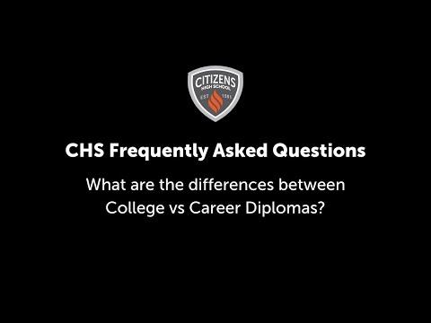 College vs Career Diploma?
