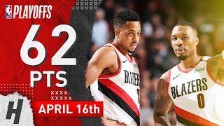 Damian Lillard & CJ McCollum Game 2 Highlights vs Thunder 2019 NBA Playoffs - 62 Pts Combined!