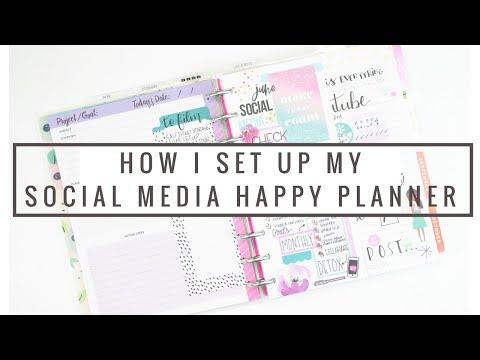 How I Setup My NEW SOCIAL MEDIA Planner + Flip-Through! | Squad Goals HAPPY PLANNER