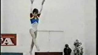 Lavinia Milosovici - 1990 Romania vs Spain Compulsories - Balance Beam