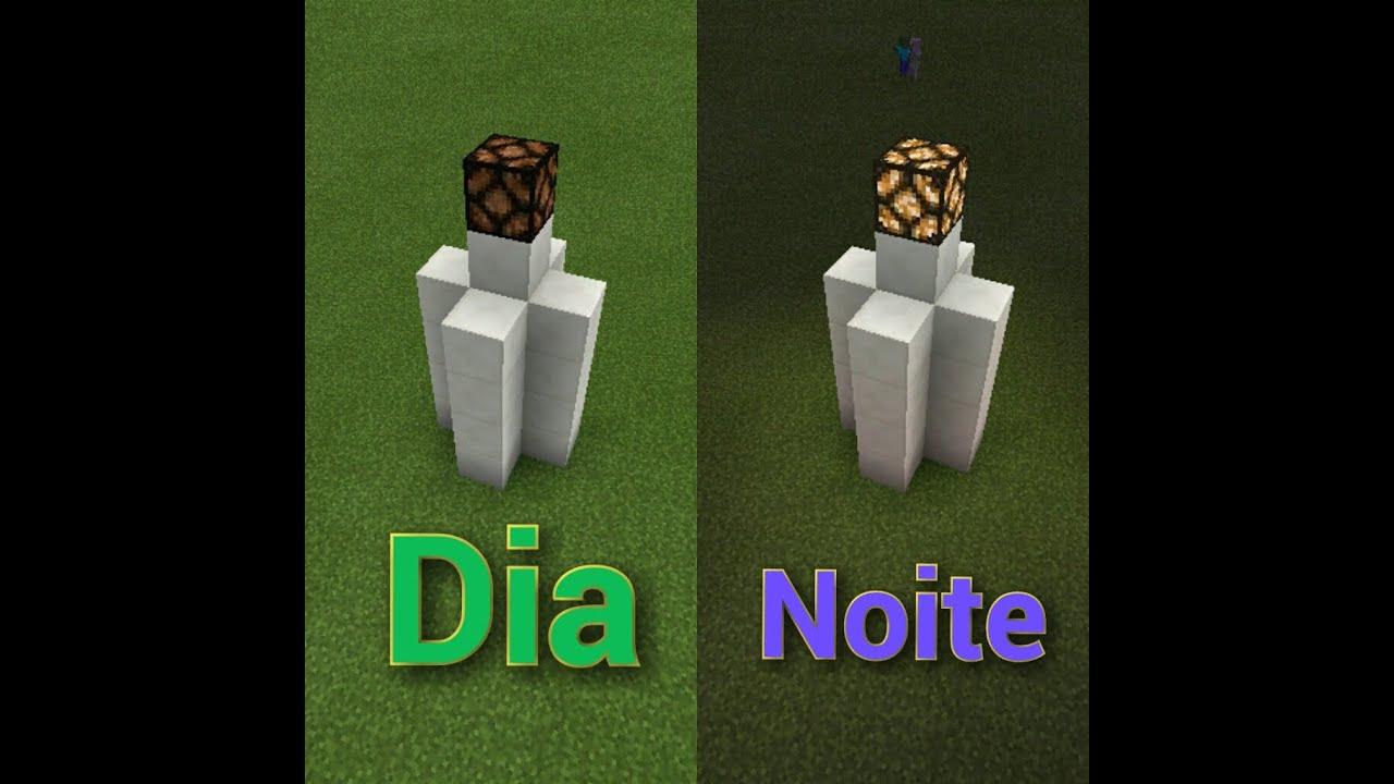 Minecraft Pe - Como Fazer Um Poste De Luz Automatico