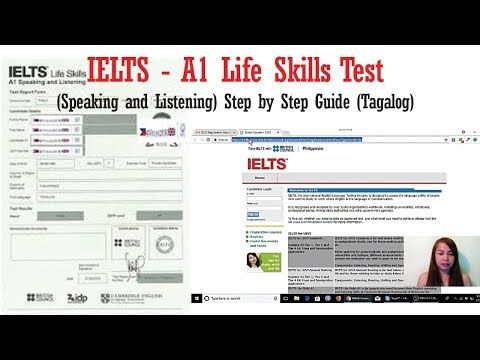 IELTS - A1 Life Skills Test - Speaking and Listening (Step by Step Guide) (Tagalog)