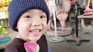 5 Chú Tiểu | PHÁP TÂM KHOE NÓN TRÙM VÀ BÔNG SEN DO THẦY ''ÔNG NỘI'' TẶNG HẾT SỨC DỄ THƯƠNG..!!