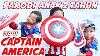 Parodi Anak 2 Tahun Jadi Captain America plus Unboxing Perisai - Parodi Jarvis