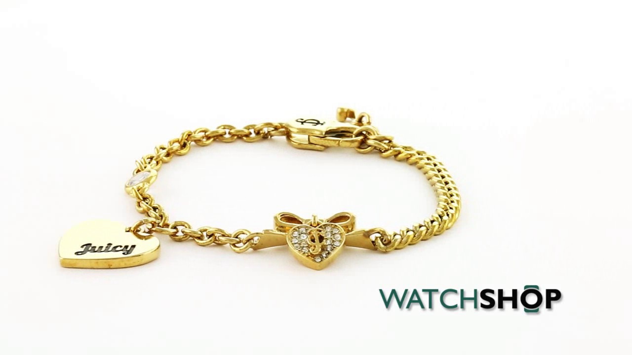 Juicy Couture Jewellery Las Pvd Gold Plated At Heart Bracelet Wjw490 710